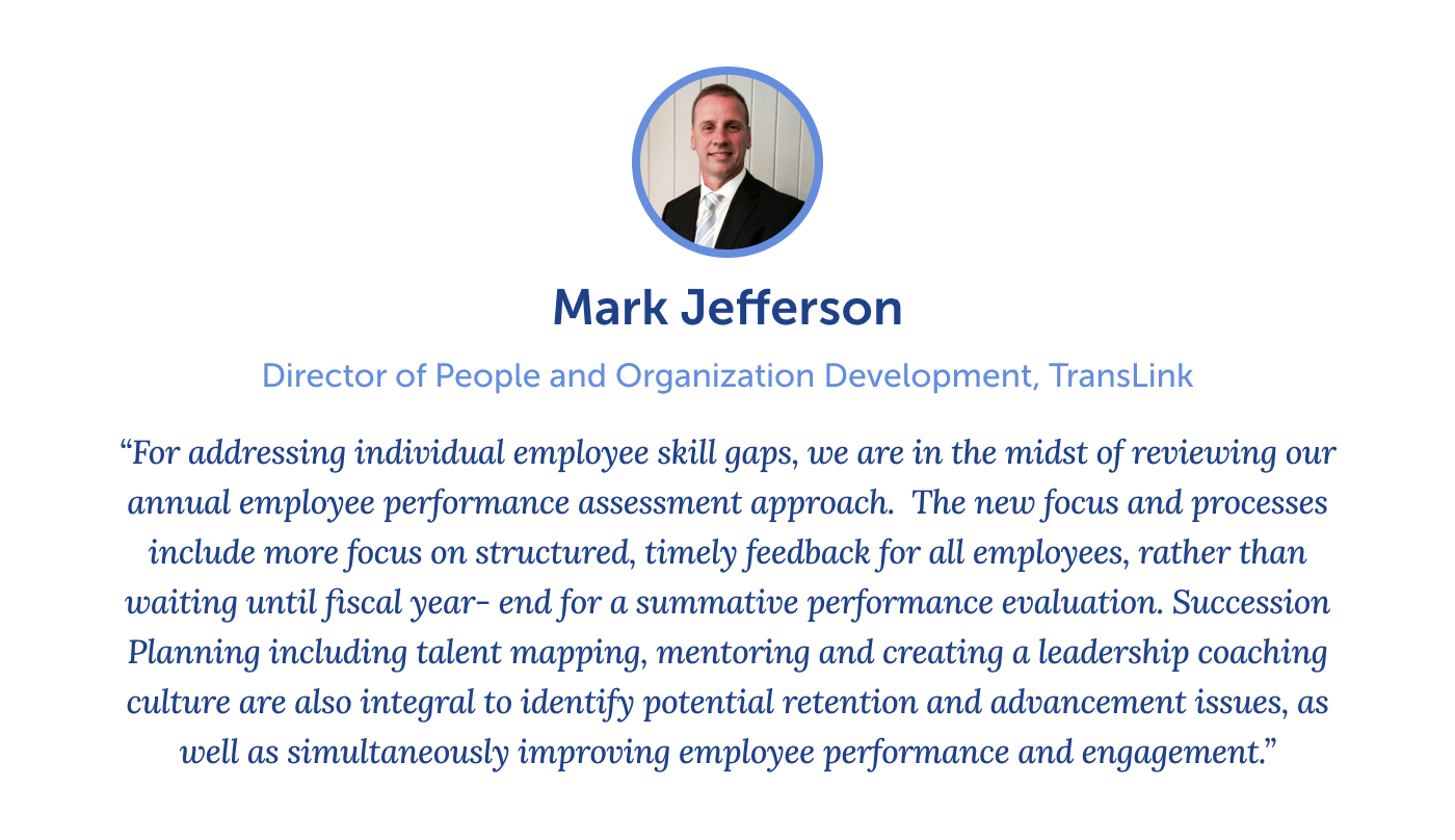 Quote from Mark Jefferson on reskilling and upskilling